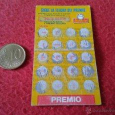 Coleccionismo Cromos antiguos: RASCA CROMO PREMIO ACIERTA FICHA MATUTANO SIGUE LA FLECHA DEL PREMIO AÑO 1987 ESCASO Y DIFICIL RARO. Lote 46119127