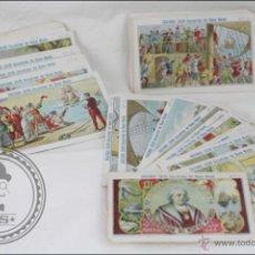 Coleccionismo Cromos antiguos: COLECCIÓN COMPLETA DE 100 CROMOS CRISTÓBAL COLÓN. DESCUBRIDOR DEL NUEVO MUNDO - SIN PUBLICIDAD. Lote 46448962
