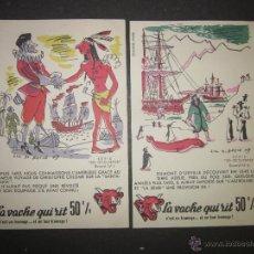 Coleccionismo Cromos antiguos: SERIE LES DECOUVERTES -LA VACHE QUI RIT - LA VACA QUE RIE -QUESOS - COLECCION 10 CROMOS - (CR-774). Lote 46771686
