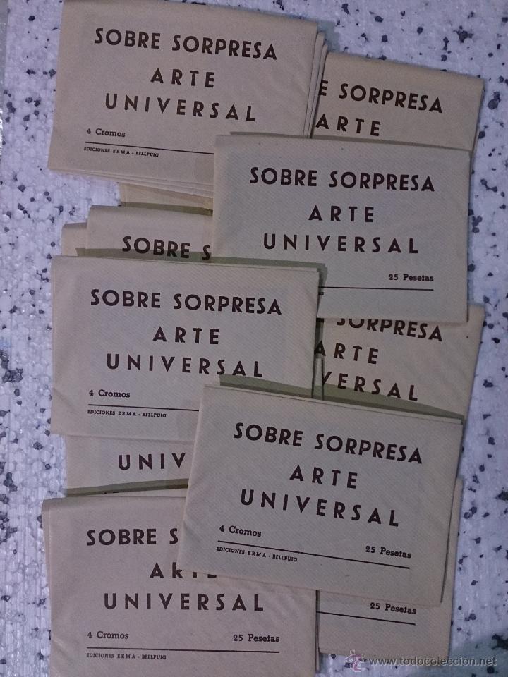 LOTE 50 SOBRES SORPRESA COLECCIÓN CROMOS DE ARTE UNIVERSAL AÑOS '70 - CEDIPSA (Coleccionismo - Cromos y Álbumes - Cromos Antiguos)