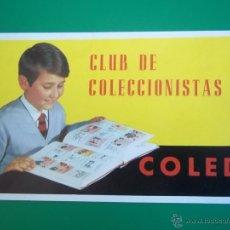 Coleccionismo Cromos antiguos: CARNET DEL CLUB DE COLECCIONISTAS DE COLED (FB108). Lote 47627020