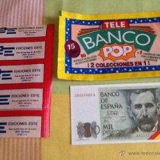 Coleccionismo Cromos antiguos: TELE BANCO POP BILLETE A ELEGIR NUEVO DE SOBRE EDICIONES ESTE. Lote 47637366