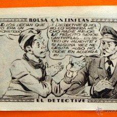 Coleccionismo Cromos antiguos: CROMO - BOLSA CANTINFLAS, EL DETECTIVE Nº 125 - EDITORIAL SENDA 1946 - CROMOS -. Lote 47689283
