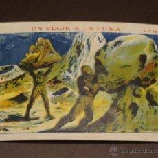 Coleccionismo Cromos antiguos: UN VIAJE A LA LUNA - N. 15 - CHOCOLATES SULTANA - NUEVO - ORIGINAL - NUNCA PEGADO. Lote 194749151