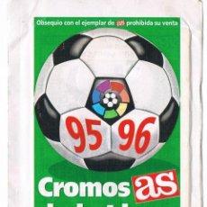 Coleccionismo Cromos antiguos: SOBRE CROMOS ANTIGUO CROMOS DE LA LIGA AS SIN ABRIR LIGA 95/96 CERRADO CROMO. Lote 47820249