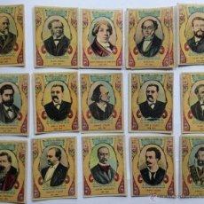 Coleccionismo Cromos antiguos: LOTE CROMOS ANTIGUOS - SERIE 28 INCOMPLETA - FOTOTIPIAS , ALGUNAS REPETIDAS. Lote 47942287