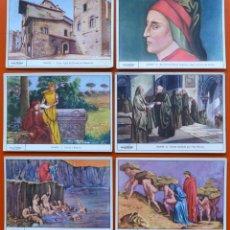 Coleccionismo Cromos antiguos: DANTE - COLECCION DE 6 CROMOS ANTIGUOS - GALLINA BLANCA - GALLICROMO SERIE Nº 2. Lote 47964747