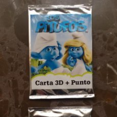 Coleccionismo Cromos antiguos: LOS PITUFOS. CARTA 3D + PUNTO. DOS SOBRES SIN ABRIR.. Lote 47986833