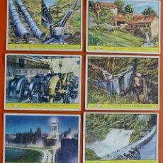 Coleccionismo Cromos antiguos: HULLA BLANCA - COLECCION DE 6 CROMOS ANTIGUOS - GALLINA BLANCA - GALLICROMO SERIE Nº 11. Lote 48110367