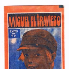 Coleccionismo Cromos antiguos: SOBRE CROMOS MIGUEL EL TRAVIESO FHER SIN ABRIR CERRADO ANTIGUO CROMO. Lote 48160646