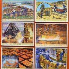 Coleccionismo Cromos antiguos: COBRE - COLECCION DE 6 CROMOS ANTIGUOS - GALLINA BLANCA - GALLICROMO SERIE Nº 17. Lote 48275904