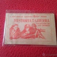 Coleccionismo Cromos antiguos: SOBRE DE CROMOS SIN ABRIR IDEAL COLECCION SOBRE-CROMO CHOCOLATES MOHER HISTORIAS DE LA GUERRA KINLE . Lote 48777232