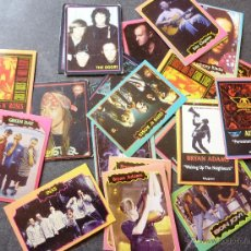 Coleccionismo Cromos antiguos: LOTE 25 ROCK CARDS THE DOORS MORRISON PHIL COLLINS MADONNA GUNS N' ROSES GREEN DAY AC DC CLAPTON . Lote 49250512