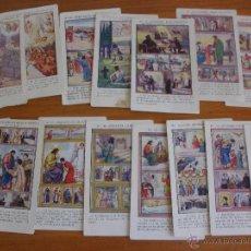 Coleccionismo Cromos antiguos: LOTE CROMOS CHOCOLATES AMATLLER BARCELONA, LOTE FORMADO POR 15 LOS MANDAMIENTOS AMATLLER. Lote 49352890