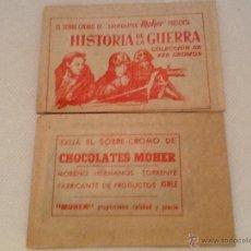 Coleccionismo Cromos antiguos: SOBRE SIN ABRIR DE HISTORIA DE LA GUERRA CHOCOLATES MOHER . Lote 154036373
