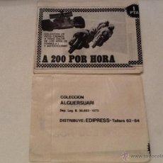 Coleccionismo Cromos antiguos: SOBRE SIN ABRIR A 200 POR HORA COLECCION ALGUERSUARI EDIPRESS 1973. Lote 49565540