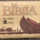 Coleccionismo Cromos antiguos: LA BIBLIA. SOBRE DE CROMOS VACÍO. Lote 160883129