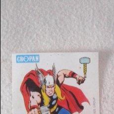 Coleccionismo Cromos antiguos: CROPAN CROMO PLASTICO ALBUM SUPER HEROES MARVEL NUMERO 42 THOR . Lote 49632012