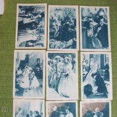 Coleccionismo Cromos antiguos: VIOLETAS IMPERIALES - RAQUEL MELLER- COMPLETA - 18 CROMOS - LECHE CONDENSADA NURIA. Lote 49862484