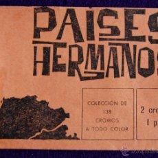 Coleccionismo Cromos antiguos: ANTIGUO SOBRE DE CROMOS VACIO. DEL ALBUM PAISES HERMANOS. EDITORAL TORAY.. Lote 52798109