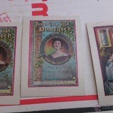 Coleccionismo Cromos antiguos: LOTE 3 CROMOS Ó TARJETAS PUBLICIDAD DE FOSFO - GLICO - KOLA DOMENECH ESTIMULANTE. Lote 50234149