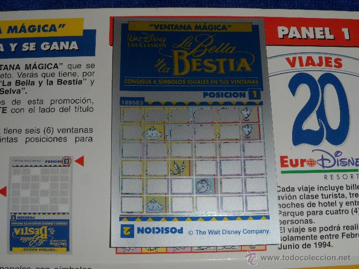 Coleccionismo Cromos antiguos: Ventana Mágica - Concurso La Bella y La Bestia - Walt Disney ¡Rarísimo! - Foto 3 - 50612588