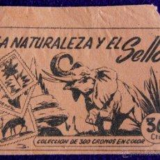 Coleccionismo Cromos antiguos: ANTIGUO SOBRE DE CROMOS VACIO. DEL ALBUM LA NATURALEZA Y EL SELLO. EDITORIAL RUIZ ROMERO.. Lote 52798632