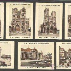 Coleccionismo Cromos antiguos: MONUMENTOS FRANCESES - SERIE N - COL. COMPLETA 24 CROMOS - (CR-870). Lote 50713769