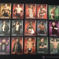 Coleccionismo Cromos antiguos: LOTE 15 CROMOS WORLD WRESTLING ENTERTAINMENT SUPERSTARS UNCOVERED MERLIN STICKERS EUROSHOP 2007. Lote 50799993
