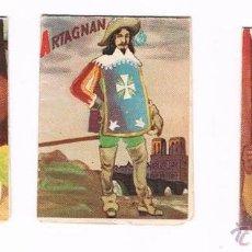 Coleccionismo Cromos antiguos: LOTE CROMOS TABACO CANARIO LA MASCOTA D´ARTAGNAN CHAMPLAIN TECUMSEH ANTIGUO CROMO. Lote 50997011