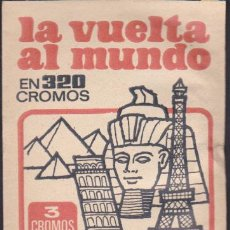 Coleccionismo Cromos antiguos: SOBRE CROMOS COLECCION LA VUELTA AL MUNDO EN 320 CROMOS EDITORIAL BRUGUERA . Lote 154803361