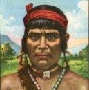 Coleccionismo Cromos antiguos: RAZAS HUMANAS - CROMO Nº 238 - INDIO JÍBARO - EDITORIAL BRUGUERA - NUNCA PEGADO.. Lote 51185079
