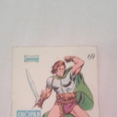 Coleccionismo Cromos antiguos: CROPAN CROMO PLASTICO ALBUM SUPER HEROES MARVEL NUMERO 69 TALON SERIE CAPA PROTECTORA. Lote 51228224