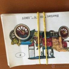 Coleccionismo Cromos antiguos: EL AUTOMOVIL A TRAVES DEL TIEMPO 21 CROMOS SE VENDEN SUELTOS. Lote 43528176