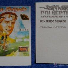 Coleccionismo Cromos antiguos: PEDRO DELGADO - SOFTWARE COLLECTION - MICRO HOBBY ¡IMPECABLE!. Lote 167920986