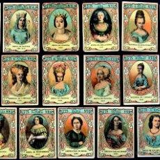 Coleccionismo Cromos antiguos: 17 CROMOS- CAJA CERILLAS. MUJERES ILUSTRES DE LA NOBLEZA. SERIE 23. AÑOS 20. FOSFORERA ESPAÑOLA.. Lote 51768502