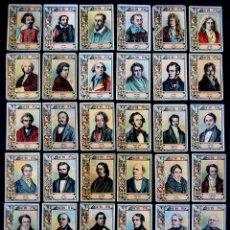 Coleccionismo Cromos antiguos: 36 CROMOS-FOTOTIPIAS DIFERENTES DE CAJA CERILLAS. MUSICOS. SERIE 26. AÑOS 20. FOSFORERA ESPAÑOLA. . Lote 51768650