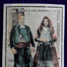 Coleccionismo Cromos antiguos: ANTIGUO CROMO DE LA ALBERCA (SALAMANCA). Nº9. ESPAÑA.TRAJES REGIONALES.CAJAS DE CERILLAS. AÑOS 30.. Lote 51773819