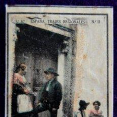 Coleccionismo Cromos antiguos: ANTIGUO CROMO DE CANDELEDA (AVILA). Nº11. ESPAÑA. TRAJES REGIONALES. CAJAS DE CERILLAS. AÑOS 30.. Lote 51773965