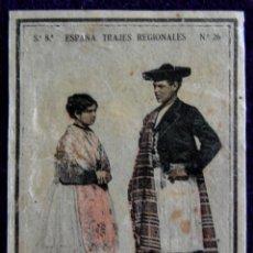 Coleccionismo Cromos antiguos: ANTIGUO CROMO DE ALICANTE. Nº26. ESPAÑA. TRAJES REGIONALES. CAJAS DE CERILLAS. AÑOS 30.. Lote 51774286