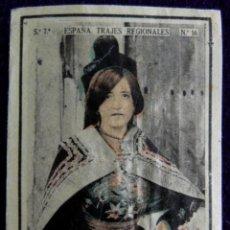 Coleccionismo Cromos antiguos: ANTIGUO CROMO CANDELARIO (SALAMANCA) 12. ESPAÑA.TRAJES REGIONALES.SERIE 7.CAJAS DE CERILLAS.AÑOS 30. Lote 51774474