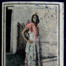Coleccionismo Cromos antiguos: ANTIGUO CROMO ALBAICIN (GRANADA) 20. ESPAÑA. TRAJES REGIONALES. SERIE 7. CAJAS DE CERILLAS.AÑOS 30. Lote 51774505