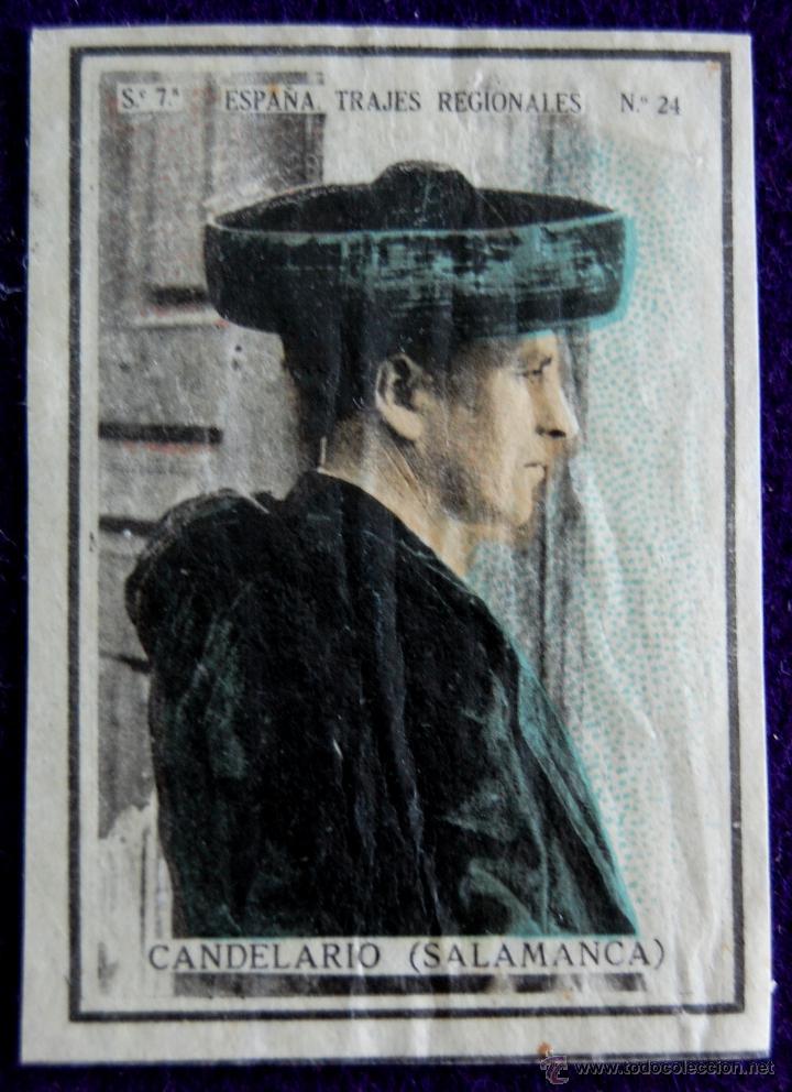 ANTIGUO CROMO CANDELARIO (SALAMANCA) 24. ESPAÑA.TRAJES REGIONALES.SERIE 7.CAJAS DE CERILLAS.AÑOS 30 (Coleccionismo - Cromos y Álbumes - Cromos Antiguos)