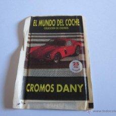 Coleccionismo Cromos antiguos: SOBRE CROMOS DANY, EL MUNDO DEL COCHE. Lote 51778521