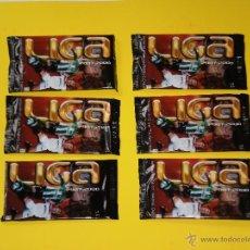 Coleccionismo Cromos antiguos: LOTE DE 6 SOBRES SIN ABRIR DE FICHAS MUNDICROMO LIGA 2007-2008. Lote 51996373