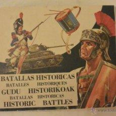 Coleccionismo Cromos antiguos: LOTE 100 CROMOS BATALLAS HISTORICAS ORIGINALES DE DIFUSORA CULTURA. PREGUNTA FALTAS. Lote 52644126