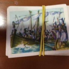 Coleccionismo Cromos antiguos: HISTORIA DE LA MAVEGACION 37 CROMOS NUEVOS SE VENDEN SUELTOS. Lote 52643864