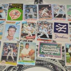 Coleccionismo Cromos antiguos: MUY INTERESANTE LOTE DE CROMOS DE BASEBALL LOS NEW YORK YANKEES VER FOTOS PM. Lote 52748169