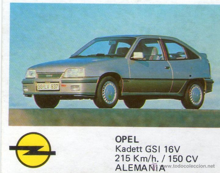 AUTO 2000 - CROMO Nº 93 - OPEL KADETT GSI 16V - COMIC-ROMO - NUNCA PEGADO., usado segunda mano