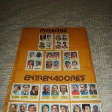Coleccionismo Cromos antiguos: LOTE CROMOS PICHICHIS Y ENTRENADORES 77 78 PACOSA EQUIPO FÚTBOL. Lote 52751865